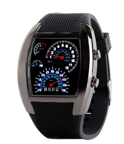 Stylové binární LED hodinky s motivem tachometru - Zboží které jinde ... 4fe4626417